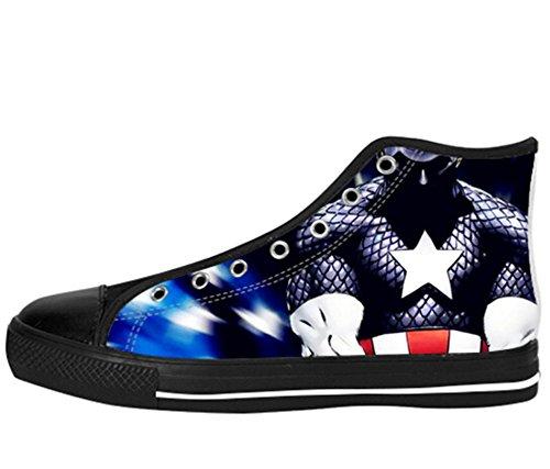 Kvinnor Canvas Kängor Captain America Designen Kapten Shoes13