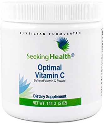 Optimal Vitamin C Powder | 144 Grams | Buffered Vitamin C Powder | Tastes Great! | Physician Formulated | Seeking Health