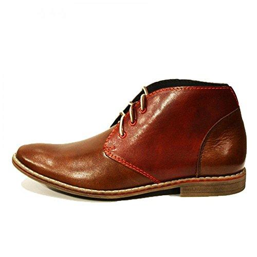 Modello Chukka Italienisch Braun Schnüren Leder Handgemachtes Stiefeletten Rindsleder Herren Augusto Weiches Leder Stiefel 0nrx0A