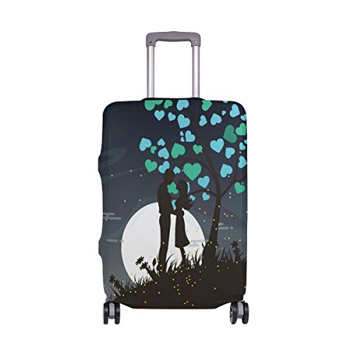 FOLPPLY Romantic Couple Silhouette Luggage Cover Baggage Suitcase Travel Protector Fit for 18-32 Inch by FOLPPLY