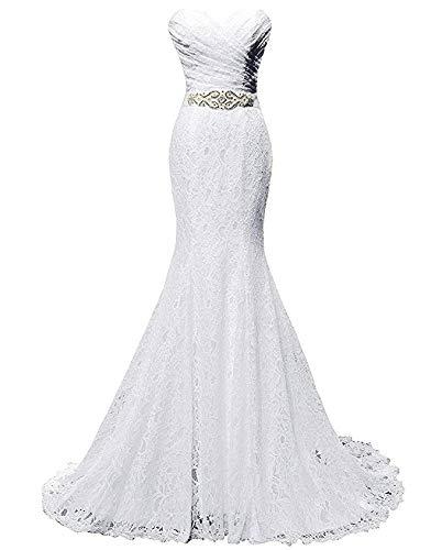 Vestido de novia de Encaje de Las Mujeres Vestido de Noche de la Sirena Marco Ailin