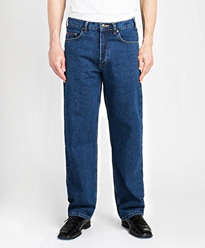 (Grand River Relaxed Fit Big & Tall Mens Stonewashed Jeans)