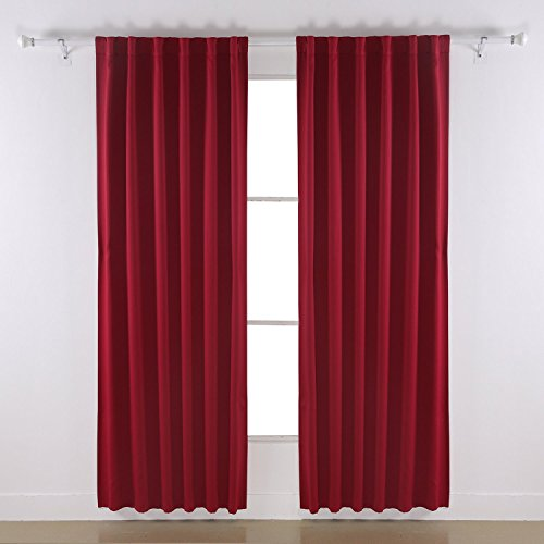 deconovo rod pocket curtains solid color thermal insulated. Black Bedroom Furniture Sets. Home Design Ideas