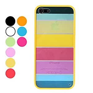 Rainbow design durable hard for the iPhone 5 (various colors) , Orange