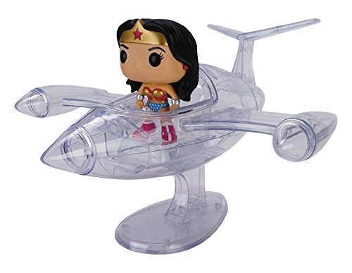 FunKo 7180 - Wonder Donna, Pop Vinyl 16 Wonder Donna Invisible Jet, 10 cm