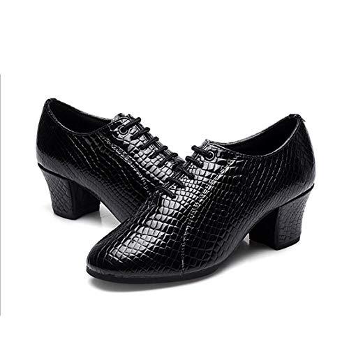 Hauts Latine DE Bout Débutant Sneaker Sport De À Ballerines Black Danse Talon Talon Chaussures Talons avec Mariage Block Fermé en Cuir 0 pour Chaussures De Femmes À 2 SIEq7w1I
