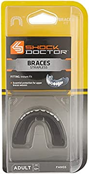 Shock Doctor Double Braces Mouth Guard. Upper and Lower Teeth Protection. Mouthguard No Boil/Instant Fit. for