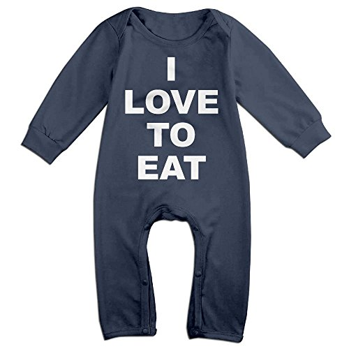 Miss Australia Costume (Infants I Love To Eat Long Sleeve Bodysuit Baby Onesie Baby Climbing Clothes Romper For 0-24 Months Navy 12 Months)