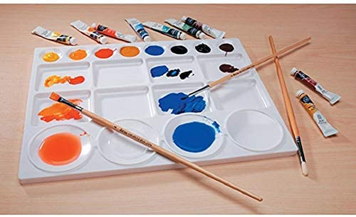"13/"" x 10/"" Plastic Palette for Oil Paints Watercolors /& Acrylic Paints For all Skills Levels Ideal for Mixing and Separating Colors Darice Art Palette with 20 Wells"