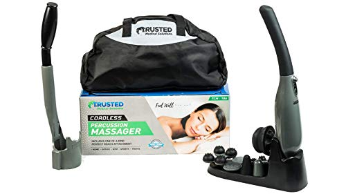 Trusted Powerful Body Massager Back Neck Scalp & Foot | Patent Pending Cordless Handheld 4,500 PPM Deep Tissue Massage | Professional Grade Pain Relief with Red Light Therapy | Bonus Ebook