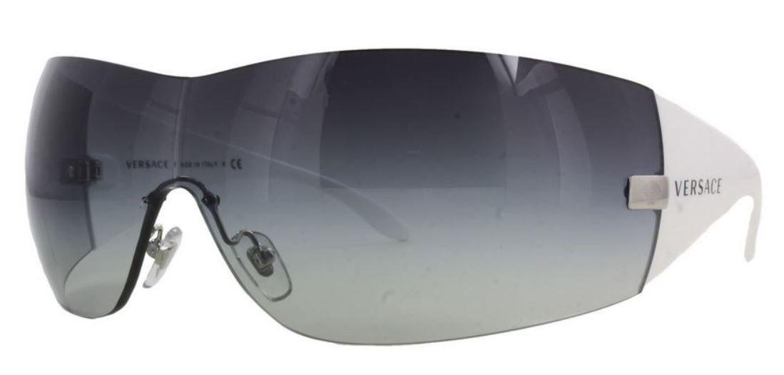 Versace 2054 10008G GRAYGRADIENT/SHINYWHITE Designer Sunglasses by Versace