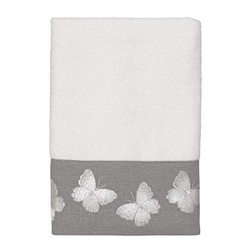 Avanti Linens Yara Hand Towel, One Size, - Embroidered Butterfly Towel Hand