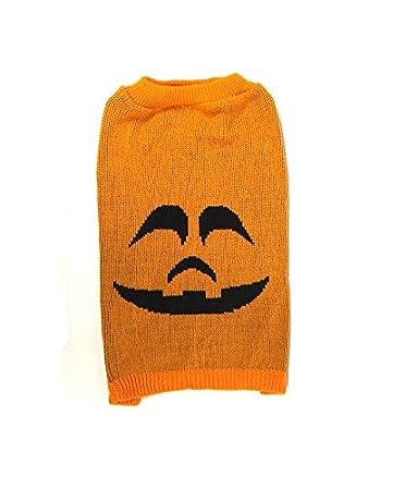 Midlee Pumpkin Face Dog Sweater