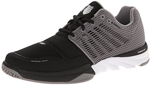 K-Swiss X Court Mens Black & Grey Running/Gym Trainers UK 7-12 RRP