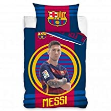 Lionel Messi & FC Barcelona Single Duvet Cover Set