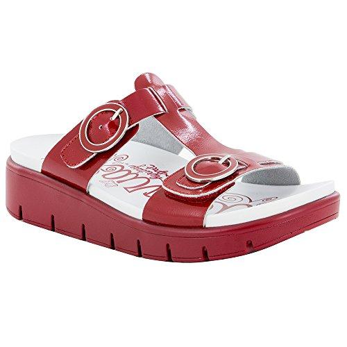 Alegria Womens Vita Sandal, Duo Red Patent, Size 37 EU (7-7.5 M US Women)
