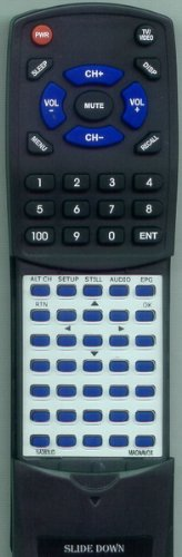 MAGNAVOX Replacement Remote Control for TV100MW9, TB110MW9, TD100MW9, E175216, TB100MW9