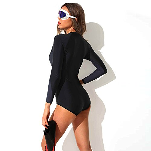 Foclassy Swimming Costume Ladies Sports Swimsuit One Piece