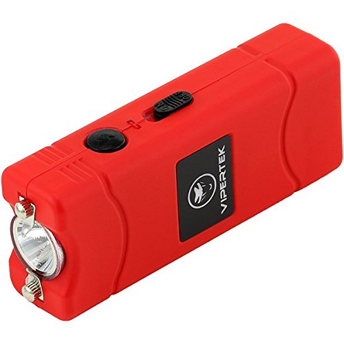 VIPERTEK-VTS-881-280000000-Micro-Stun-Gun-Rechargeable-with-LED-Flashlight-Red