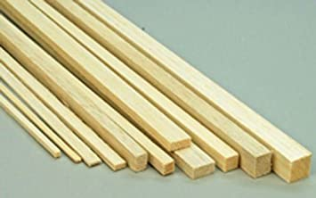Balsa Wood Strips 1 4 X 1 4 6 5mm X 6 5mm 12 Long A15 X45 Amazon