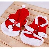 SYMTOP Disfraz Navideño de Papá Noel para Perro