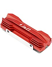 J&D M.2 Heatsink, Aluminum Alloy M.2 2280 SSD Heatsink Cooler with Silicone Thermal Pad and Copper Pipes, Compatible with SATA NVMe NGFF 2280 M.2 SSD, Red