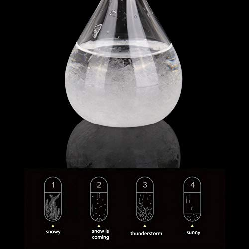 WISREMT Storm Glass Weather Station, Mini Weather Forecast Bottle for Home Office Desktop Decorative Ornament & Gift