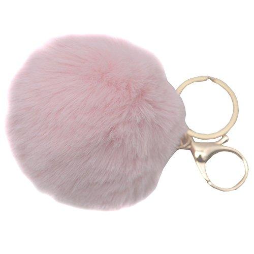 melie-bianco-girls-light-pink-faux-pom-pom-fluffy-keychain