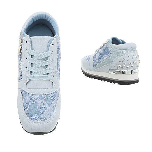 Sneaker Sneakers Zeppa Design Donna Lumi High Scarpe Ital da 1ZIZq