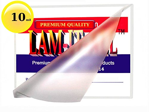 10 Mil 6 x 9 Hot Laminating Pouches [Pack of 50] by LAM-IT-ALL by LAM-IT-ALL