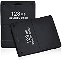 TPFOON 2pcs Pack 128MB High Speed Game Memory Card Compatible with Sony Playstation 2 PS2