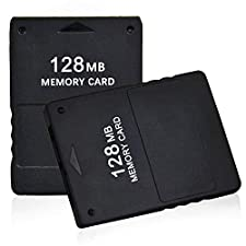 2pcs Pack TPFOON 128MB High Speed Game Memory Card Compatible with Sony Playstation 2 PS2