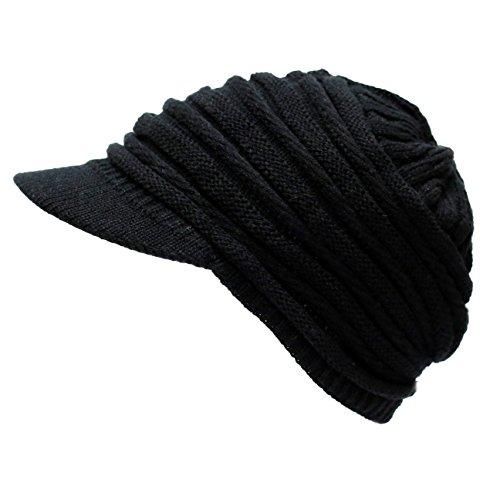 The Hat Depot 700WH-WA9 Knit Visor Hat-6colors (Black)