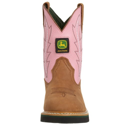 John Deere , Jungen Stiefel mehrfarbig Pink/Braun