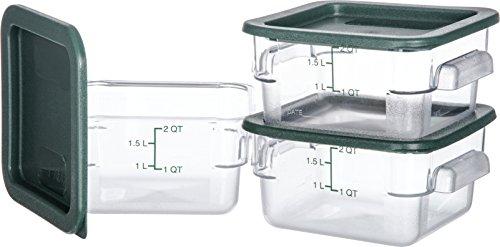 Carlisle 10720-307 Plastic Square Food Storage Container wit