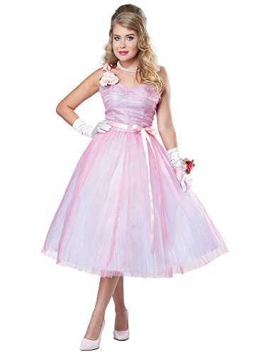 Halloween Costumes 2016 Teens (California Costumes Women's 50s Teen Angel, Pink/Blue, Small)