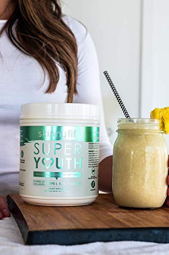 SkinnyFit Super Youth: 5 Types of Collagen Peptides, Hydrolyzed Powder Supplement for Joint & Bone Support, Glowing Skin, Strong Hair & Nails (58 Servings), Pasture Raised, Grass Fed, Cage Free by SkinnyFit (Image #3)