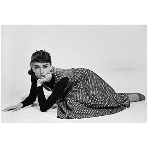 Audrey Hepburn Dress My Fair Lady (Audrey Hepburn 8 x 10 Photo My Fair Lady Funny Face Sabrina Breakfast at Tiffany's B&W Polka Dot Dress Pose 2 kn)