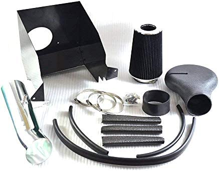 4 Performance Cold Air Intake Kit With Filter Compatible for 94-01 Dodge Ram 1500 94-02 Dodge Ram 2500,Black