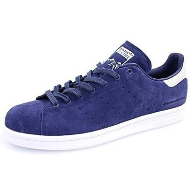 Adidas Stan Smith White Basket Mode Homme Bleu 42 2 3  Amazon.fr ... d76a591acad5