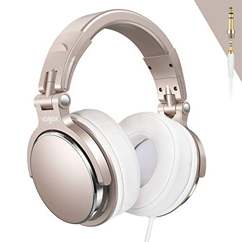 Big Save! Over-Ear DJ Headphones, Prefessional Studio Monitor Mixing DJ Headset with Stereo Sound fo...