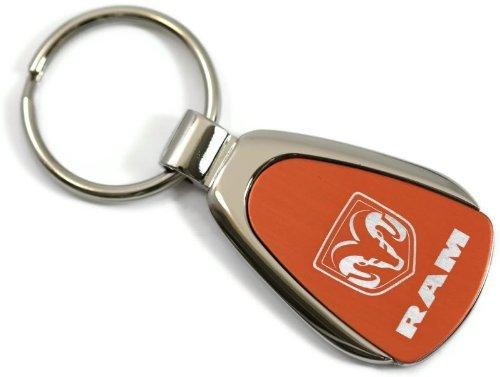 Dodge Ram Orange Teardrop Key Fob Authentic Logo Key Chain Key Ring Keychain Lanyard