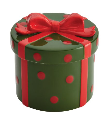 Cake Boss Collector's Edition 'Holiday Gift' Novelty Serveware Cookie Jar, Green/Red