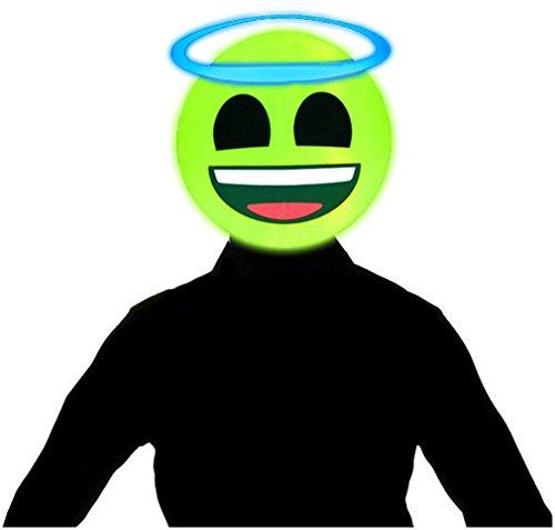 Light Up Emoji Masks (Angel Emoji)