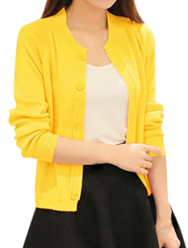 Raglan Sleeves Button Closure Cardigan
