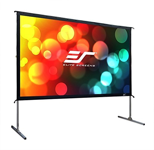 Elite Screens Yard Master 2, 110-INCH  16:9, 4K / 8K Ultra HD, Active 3D, HDR Ready Portable Foldaway Movie Home Theater Projector Screen, FRONT Projection – OMS110H2