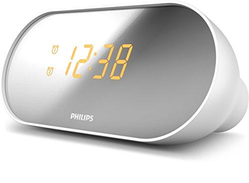 Philips AJ2000/12 Radiowecker mit zwei Alarmen (Digitaler UKW Tuner) weiß