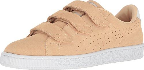 Puma Mens Basket Klassische Strap Suede Schuhe Natürlicher Vachetta