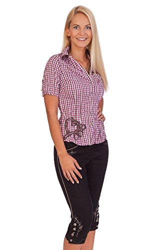 Trachten Damen Leinen 3/4 Hose - RECKE - schwarz, Größe 42