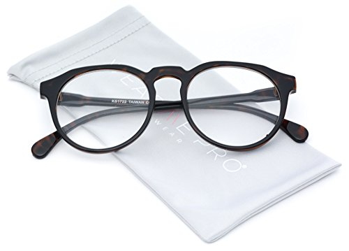 WearMe Pro - Round Clear Lens Flat Top Retro Hipster Glasses - New - New Glasses Design